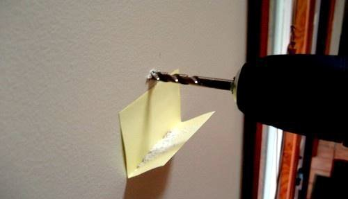 Use a Post-It note to catch drill dust